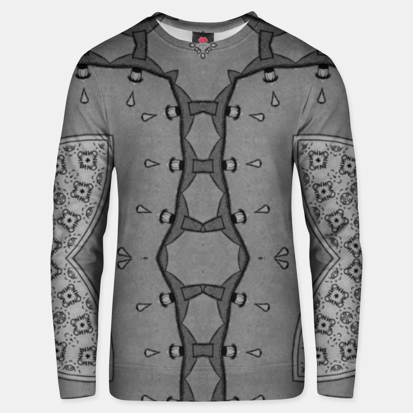 Image of vintage comics - no! Pulp magazines, collages metal pattern Unisex sweater - Live Heroes