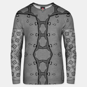 Thumbnail image of vintage comics - no! Pulp magazines, collages metal pattern Unisex sweater, Live Heroes