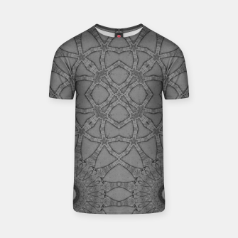 Miniatur vintage comics: star pattern, neo-gothic, urban, industrial and geometric pattern T-shirt, Live Heroes