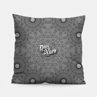 Miniatur vintage comics: star pattern, neo-gothic, urban, industrial and geometric pattern Pillow, Live Heroes