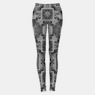 vintage comics:  night geometric of pulp magazines Leggings thumbnail image
