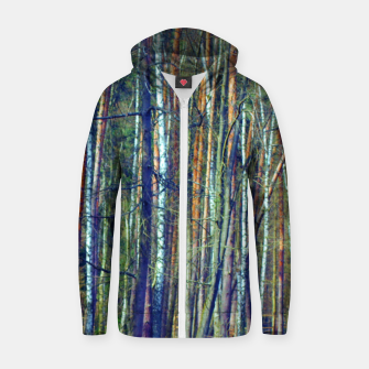 Birch forest  Zip up hoodie thumbnail image