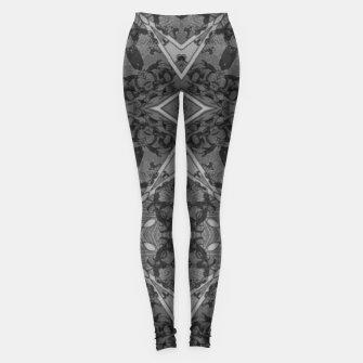 vintage comics: grey, metal, mad geometry. Leggings thumbnail image