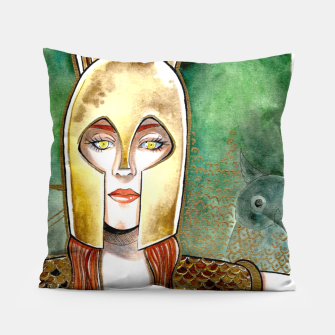 Thumbnail image of Girl be an Athena Pillow, Live Heroes