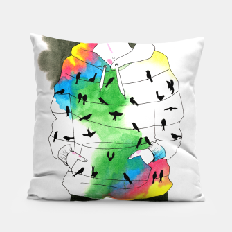 Thumbnail image of hoodie Pillow, Live Heroes