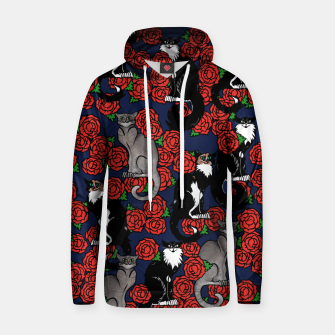 Cats and Roses Le Chat Noir Calico Hoodie thumbnail image