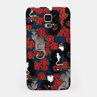 Cats and Roses Le Chat Noir Calico Samsung Case thumbnail image