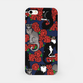 Cats and Roses Le Chat Noir Calico iPhone Case thumbnail image
