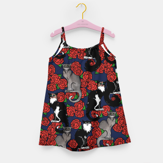 Cats and Roses Le Chat Noir Calico Girl's dress thumbnail image