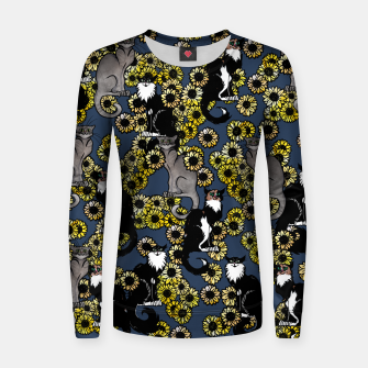 Thumbnail image of Sunflower cats Women sweater, Live Heroes