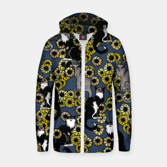 Thumbnail image of Sunflower cats Zip up hoodie, Live Heroes