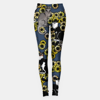 Thumbnail image of Sunflower cats Leggings, Live Heroes