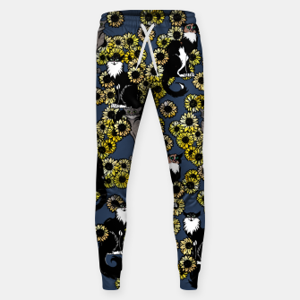 Thumbnail image of Sunflower cats Sweatpants, Live Heroes