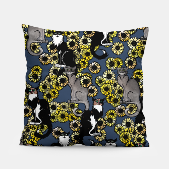 Thumbnail image of Sunflower cats Pillow, Live Heroes