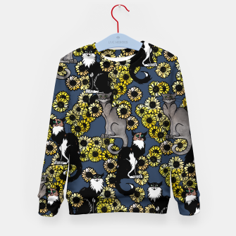 Thumbnail image of Sunflower cats Kid's sweater, Live Heroes