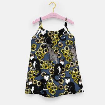 Thumbnail image of Sunflower cats Girl's dress, Live Heroes