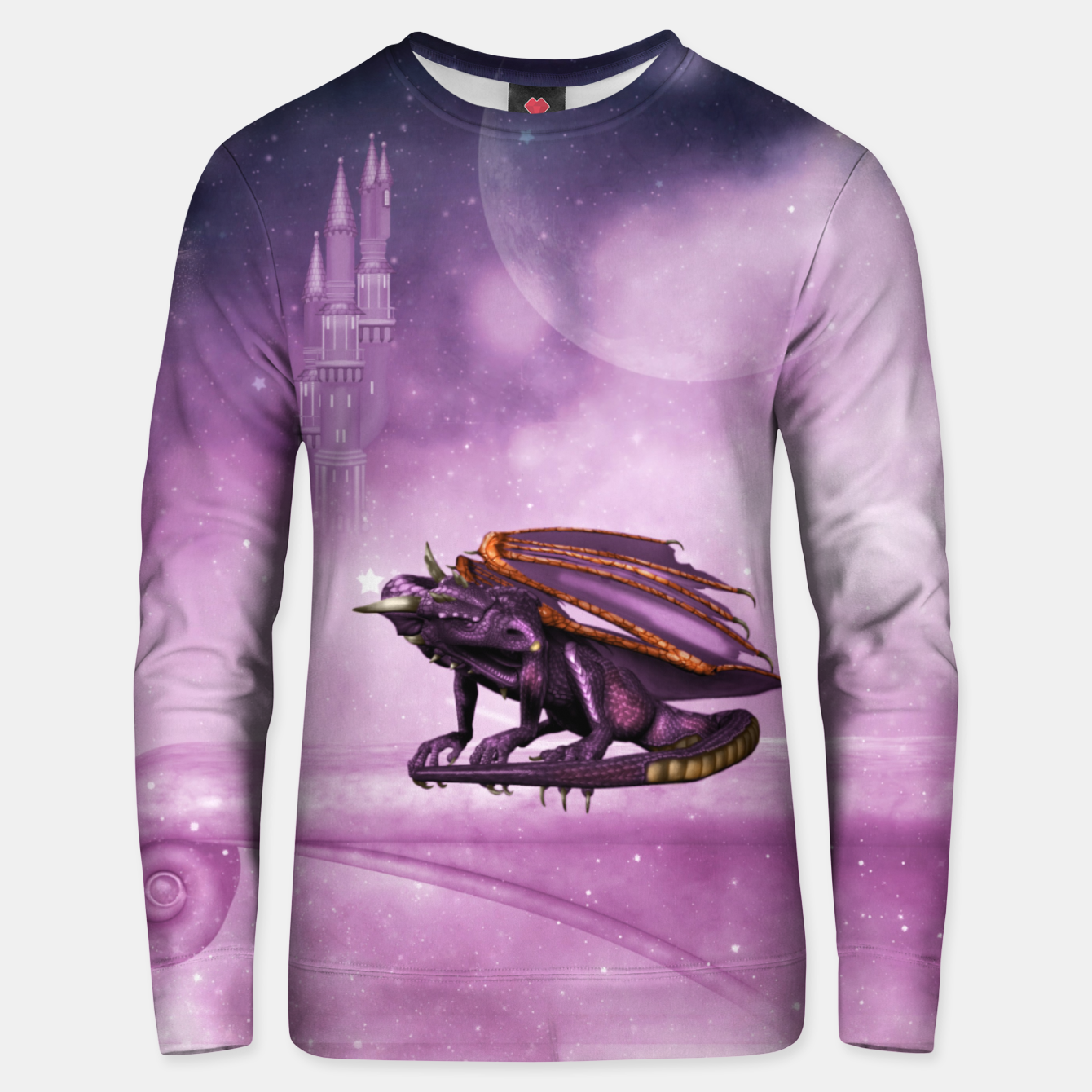 Image of Wonderful dragon in the sky Unisex sweater - Live Heroes