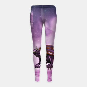 Thumbnail image of Wonderful dragon in the sky Girl's leggings, Live Heroes