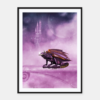 Thumbnail image of Wonderful dragon in the sky Framed poster, Live Heroes