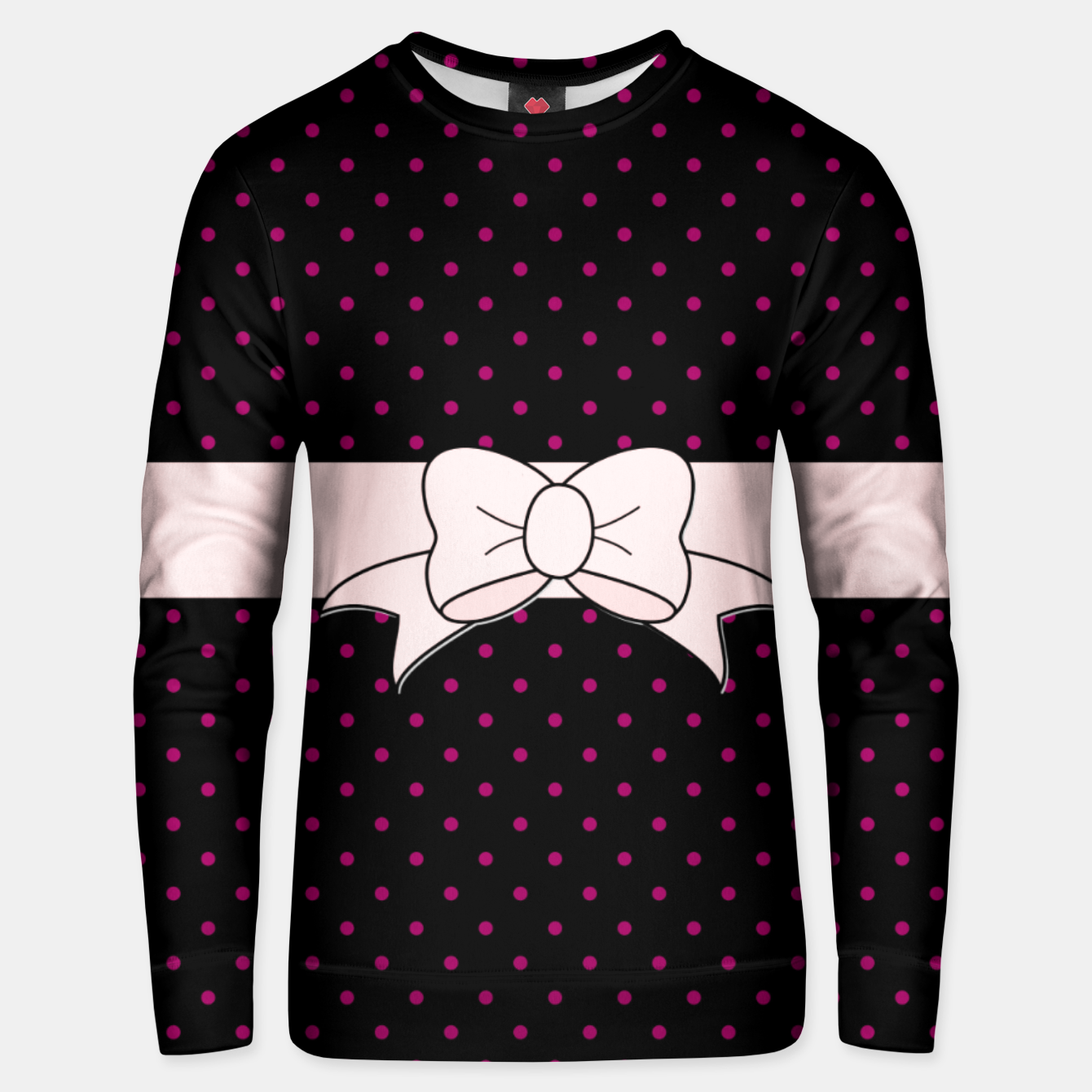 Image of Polka Dots Bow Pattern Unisex sweater - Live Heroes