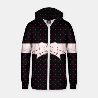 Polka Dots Bow Pattern Zip up hoodie thumbnail image