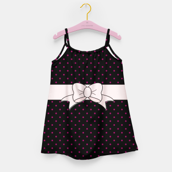 Polka Dots Bow Pattern Girl's dress thumbnail image