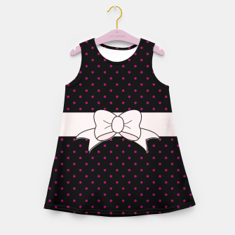 Polka Dots Bow Pattern Girl's summer dress thumbnail image