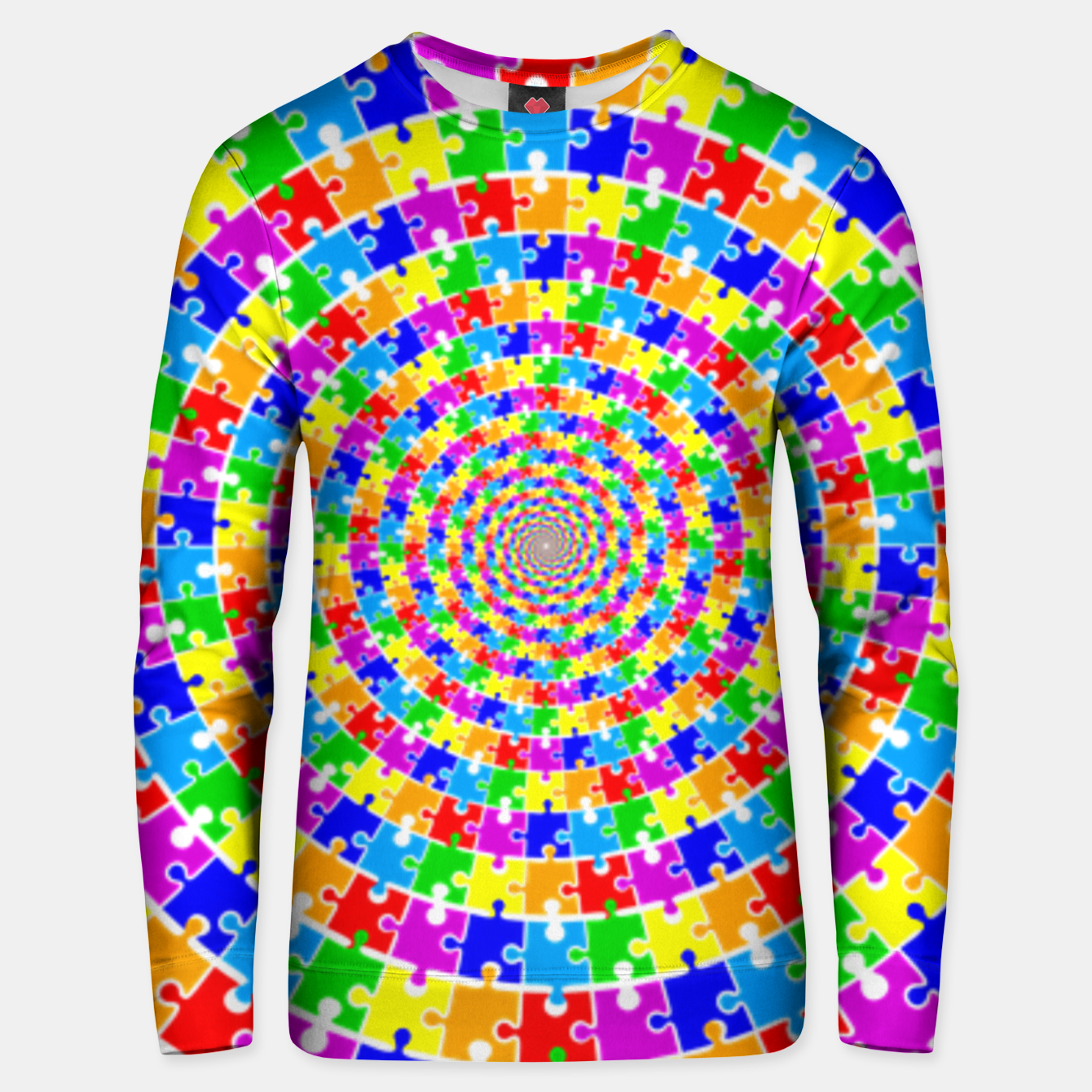 Image of Colored Jigsaw Piece Unisex sweater - Live Heroes