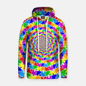 Colored Jigsaw Piece Hoodie thumbnail image