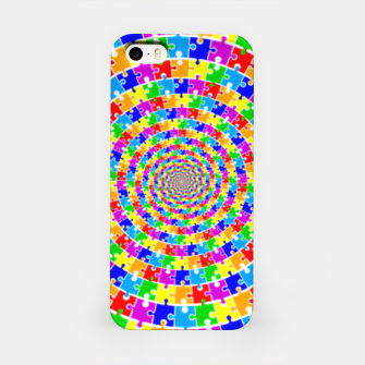Colored Jigsaw Piece iPhone Case thumbnail image