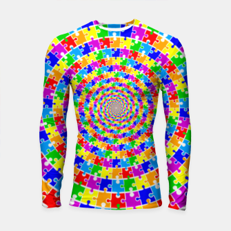 Colored Jigsaw Piece Longsleeve rashguard  thumbnail image