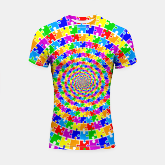 Colored Jigsaw Piece Shortsleeve rashguard thumbnail image