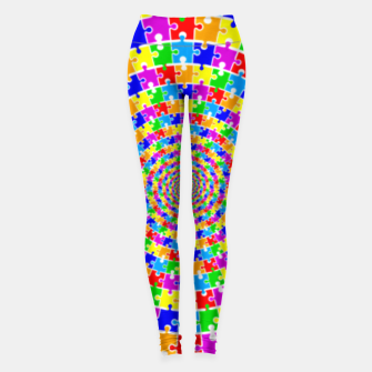 Colored Jigsaw Piece Leggings thumbnail image