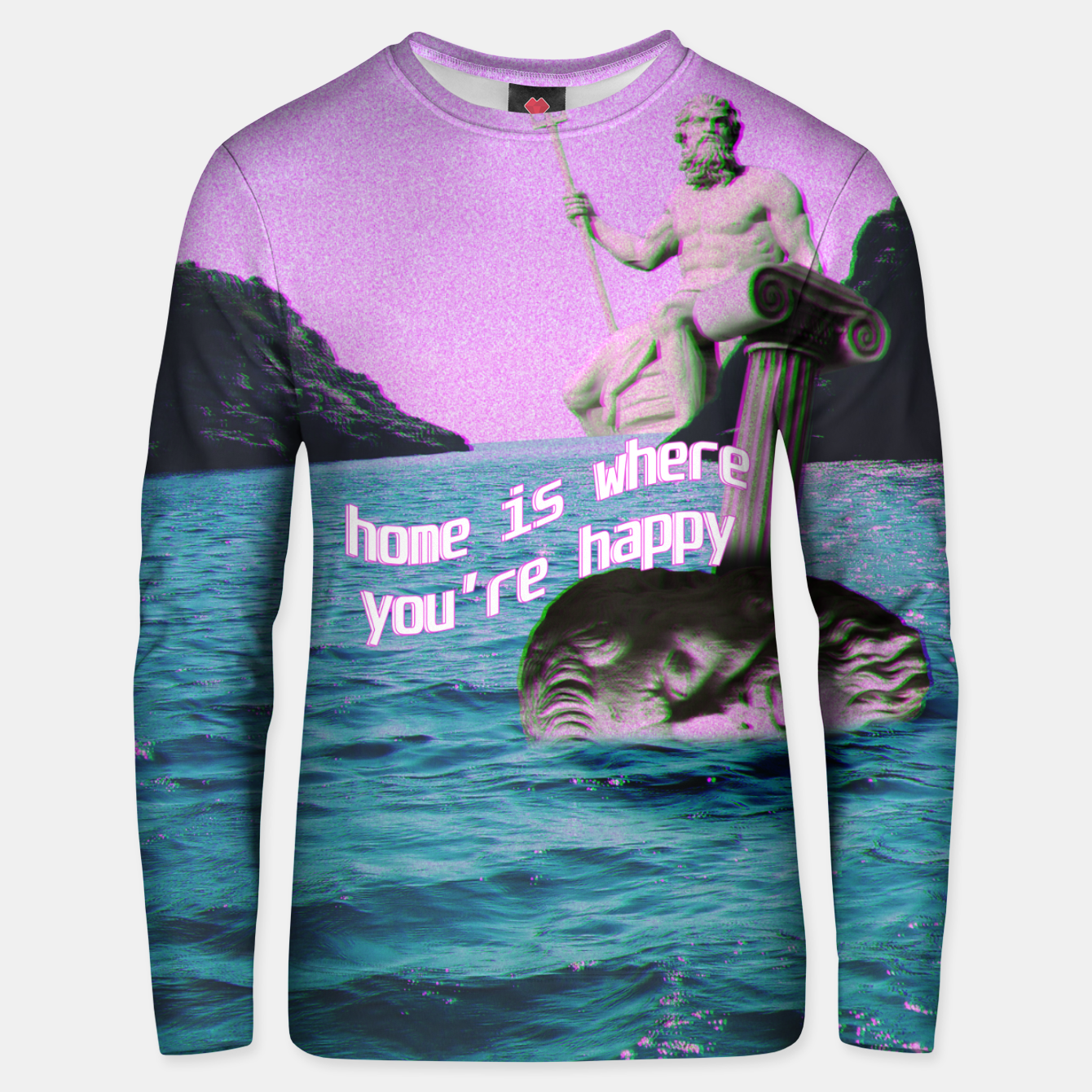 Image of home is where you're happy Unisex sweater - Live Heroes