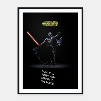 Thumbnail image of STAR WARS DON'T BY Framed poster, Live Heroes