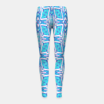 Thumbnail image of Geometric Doodle 1 Girl's leggings, Live Heroes