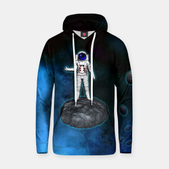 Thumbnail image of Cosmic Hitchhiker Astronaut Illustration Kapuzenpullover, Live Heroes