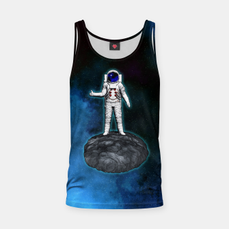 Thumbnail image of Cosmic Hitchhiker Astronaut Illustration Muskelshirt , Live Heroes