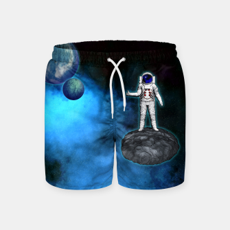 Thumbnail image of Cosmic Hitchhiker Astronaut Illustration Badeshorts, Live Heroes