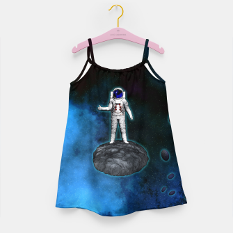 Thumbnail image of Cosmic Hitchhiker Astronaut Illustration Mädchenkleid, Live Heroes