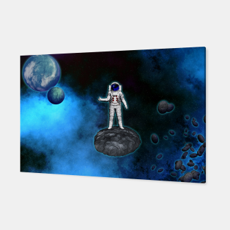 Thumbnail image of Cosmic Hitchhiker Astronaut Illustration Canvas, Live Heroes