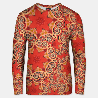 Thumbnail image of Gold 'n Rusty Curls Abstract  Unisex sweater, Live Heroes
