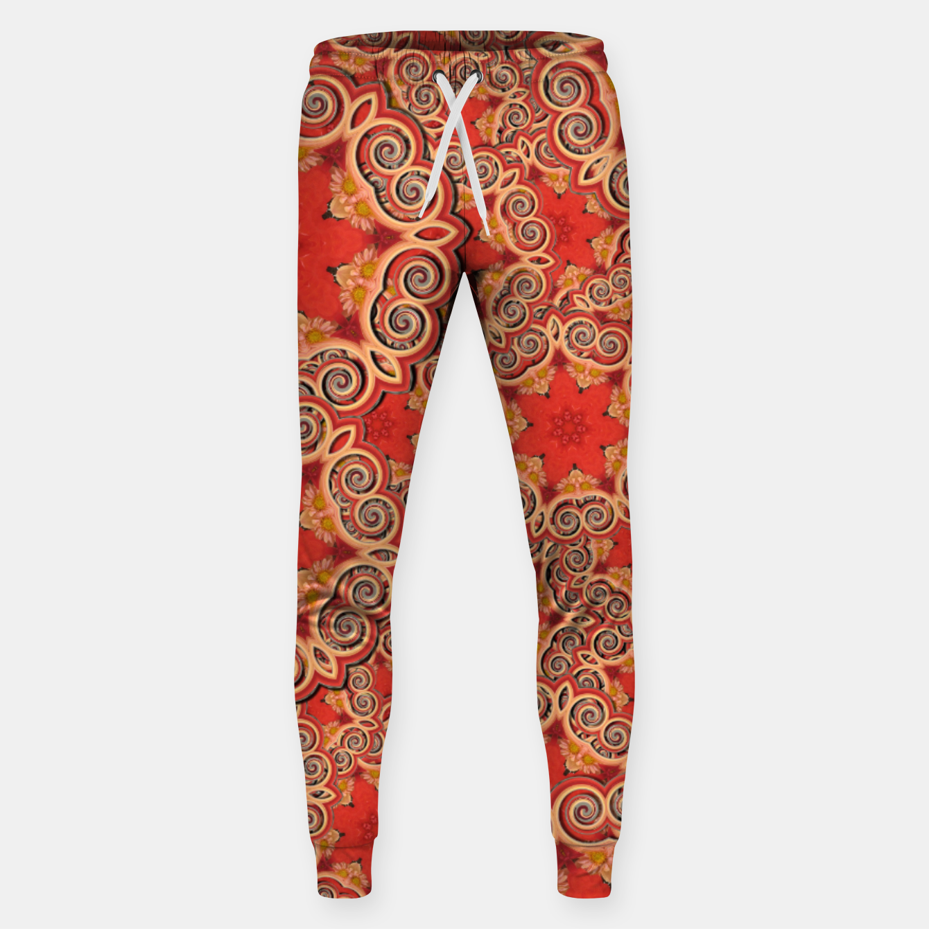 Image of Gold 'n Rusty Curls Abstract  Sweatpants - Live Heroes