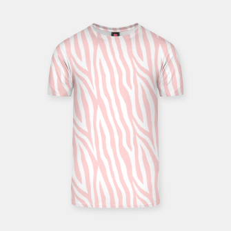 Thumbnail image of Pale pink zebra fur pattern 04 T-shirt, Live Heroes