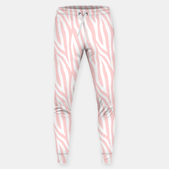 Thumbnail image of Pale pink zebra fur pattern 04 Sweatpants, Live Heroes