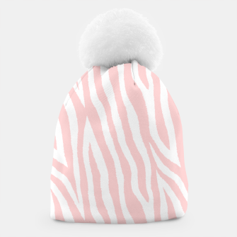 Thumbnail image of Pale pink zebra fur pattern 04 Beanie, Live Heroes