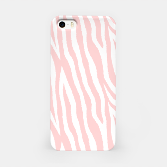 Pale pink zebra fur pattern 04 iPhone Case Bild der Miniatur