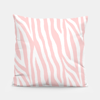 Thumbnail image of Pale pink zebra fur pattern 04 Pillow, Live Heroes