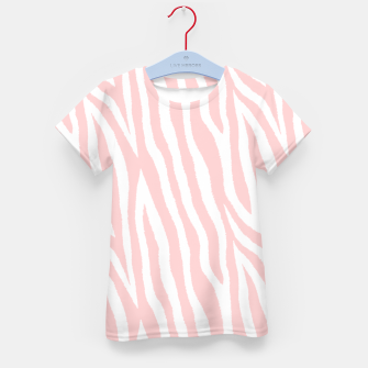 Thumbnail image of Pale pink zebra fur pattern 04 Kid's t-shirt, Live Heroes