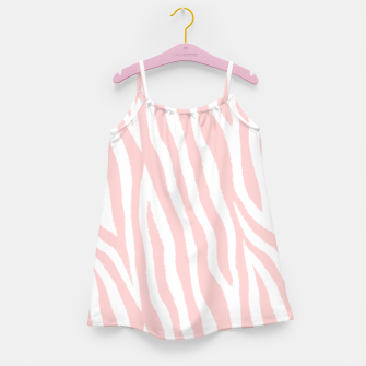 Pale pink zebra fur pattern 04 Girl's dress Bild der Miniatur